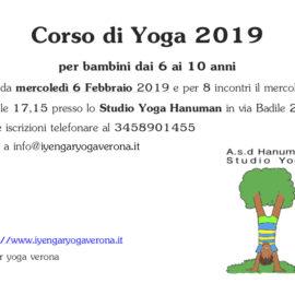 Corso Yoga per bambini 2019
